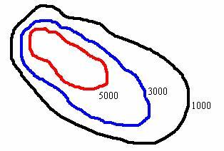 Линии уровня горы